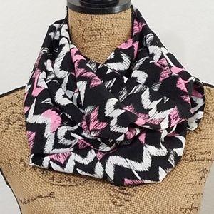 Abstract chevron pattern infinity scarf•Bundle!
